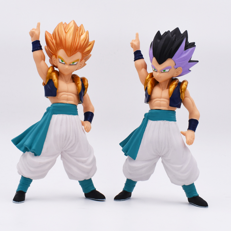 Classic Japan Comic/Anime Dragon Ball Z Son Goten + Trunks Mix Gotenks Super Saiyan 23CM PVC Figure Toys Free Shipping oreimo comic anthology