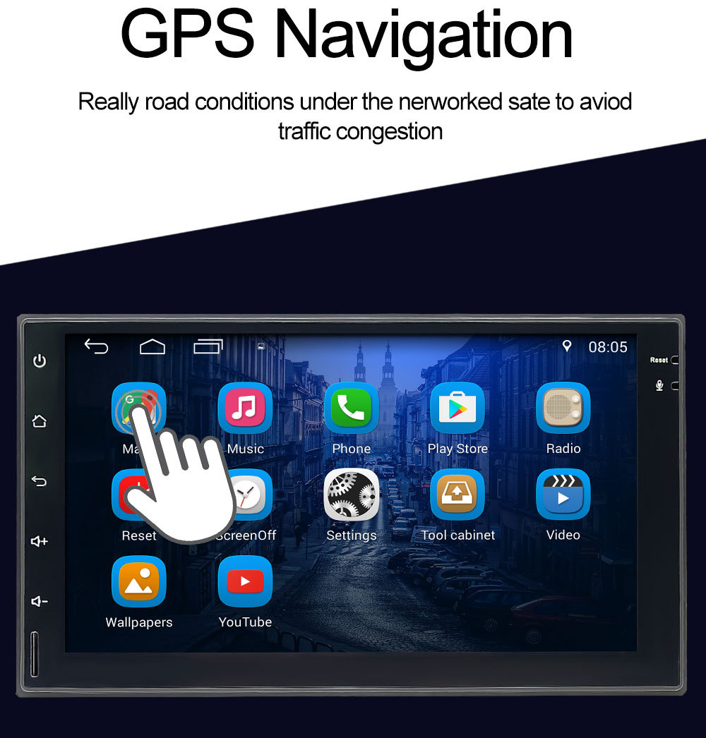 7 LCD Touch Screen 2 din car radio GPS Android Car MP5 Player with RDS & BT & Mirror Link Toyota Honda Nissan volkswagen polo