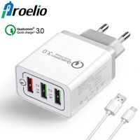 Proelio 3 Ports Quick Charger QC 3.0 18W USB Charger For iphone 7 8 iPad Samsung S8 Huawei Xiaomi Fast Charger QC3.0 EU/US Plug