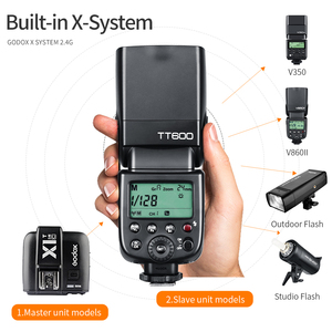 Image 3 - Godox TT600 2.4G كاميرا لا سلكية فلاش Speedlite + X1T C/N/F الارسال اللاسلكية فلاش الزناد