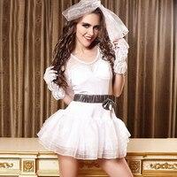 Caliente Blancanieves cosplay disfraces de Halloween sexy vestidos de novia uniforme discoteca tentación sabor uniforme ropa traje de falda