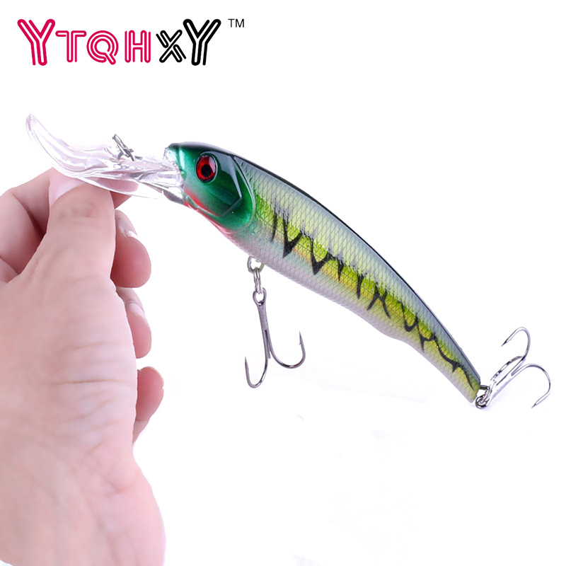 YTQHXY Big Floating Minnow Artificial Plastic Deep Diver Hard Lures 30g 16.5cm Fishing Lure Crankbait Sinking Wobbler YE-287 10pcs 10cm plastic hard fishing lures saltwater fishing bass pike deep diver floating artificial fishing wobblers lure hooks