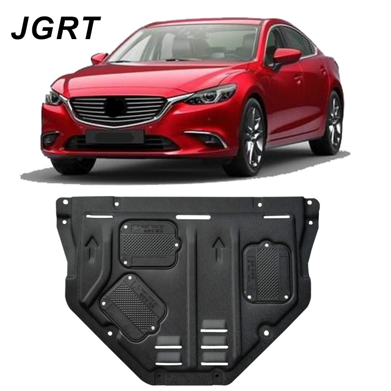 Car styling For <font><b>Mazda</b></font> 6 ATENZA plastic steel <font><b>engine</b></font> guard For ATENZA 2014-2018 <font><b>Engine</b></font> skid plate fender 1pc image