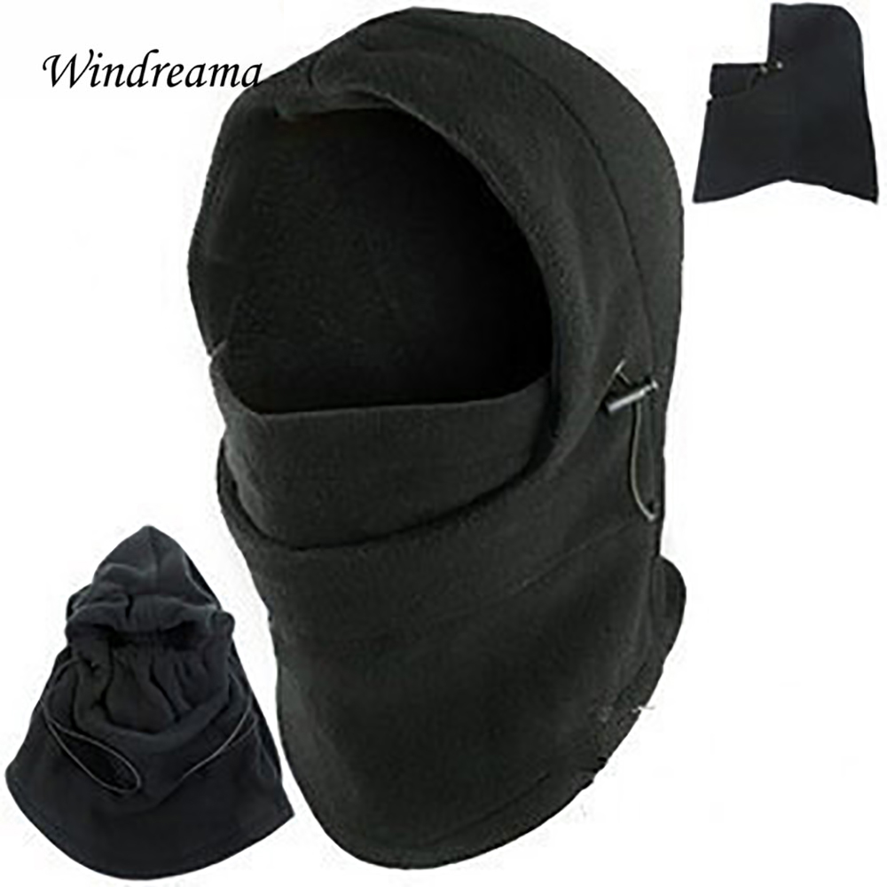 Windreama Double Layers Thick Cap Warm Winter Hat Special Forces Equipped Mask Windproof Beanie Men Women Girls Boys Kids large double layers folding umbrella windproof rain gear