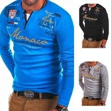 ZOGAA 2019 Hot Spring Autumn Long Sleeve Polo Shirts Letter Print Slim Fit Polo Men Shirt Big Size Polo Shirts Men Clothing