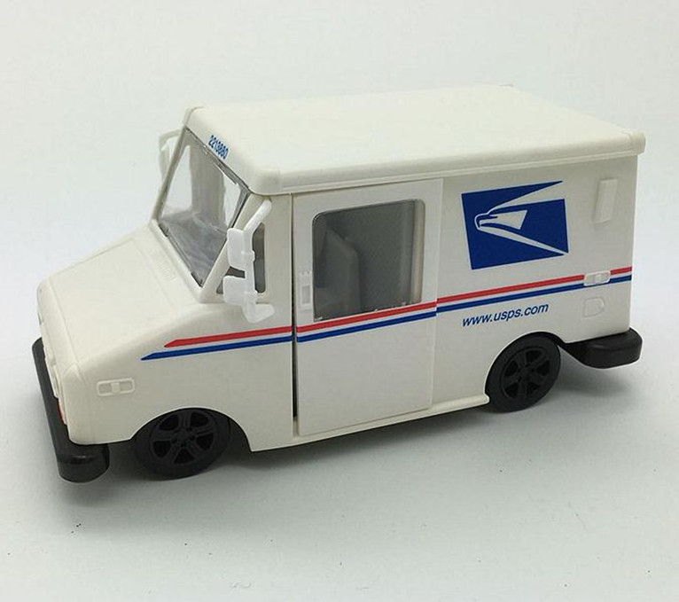 Modelos de inercia a escala 1:43, camión expreso UPS de alta simulación, vehículo de juguete fundido de metal, 3 puertas abiertas, envío gratis
