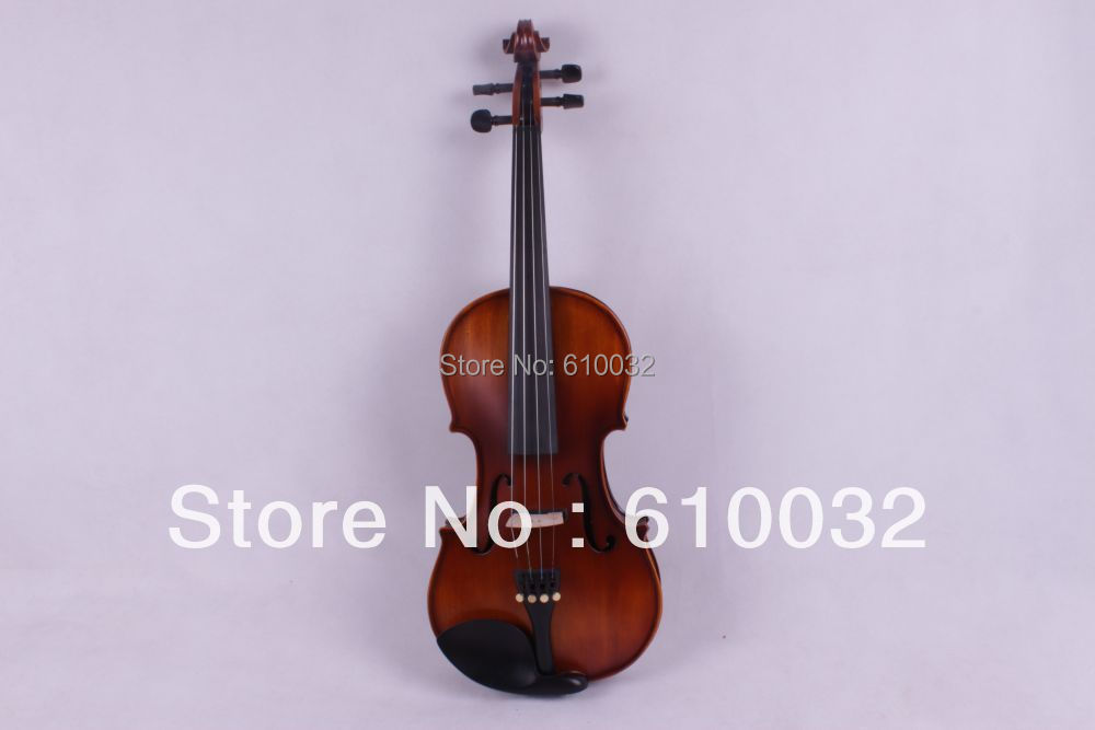 4/4 New 4  string Electric Acoustic Violin Solid Wood Nice Sound brown  color new 4 string 4 4 electric acoustic violin patent silent fine sound 1