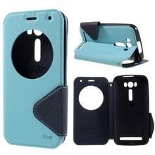 Рев окном View PU кожаный чехол для телефона Asus Zenfone 2 Laser Z00ED ZE500KG ZE500KL 5.0-дюймовый мешок мобильного телефона крышка Fundas Coque