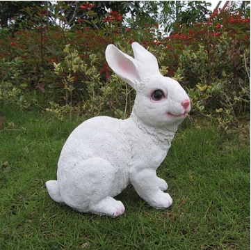 Simulation resin rabbit ornaments home outdoor living room for Outside house ornaments