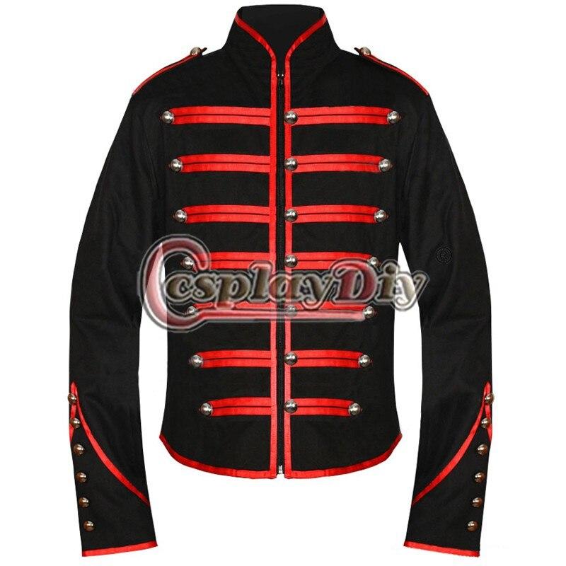 28 pz My Chemical Romance Giacca Militare Cappotto per il cliente