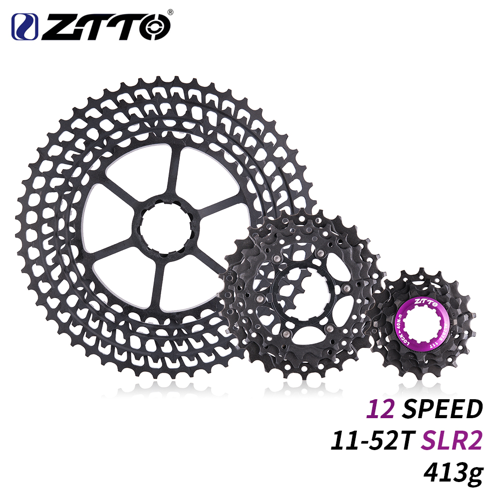 ZTTO 12 s 11-52 t REFLEX 2 Cassette 12 Vitesse VTT 12 Vitesse Ultra-Léger K7 12 v 413g CNC Roue Libre Vtt Vélo Pièces pour HG Hub