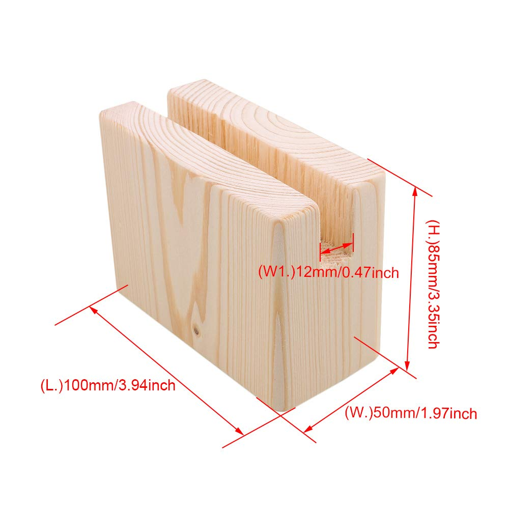2Pcs 10x5x7.5cm Wood Table Desk Bed Risers Lift Furniture Lifter Storage For 1.2CM Groove Feet Up To 5CM Lift