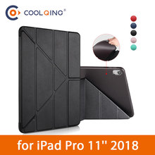 TPU Tablets Case For iPad Pro 11 2018 Soft Multi-folded Smart Wake Sleep Protective Cover
