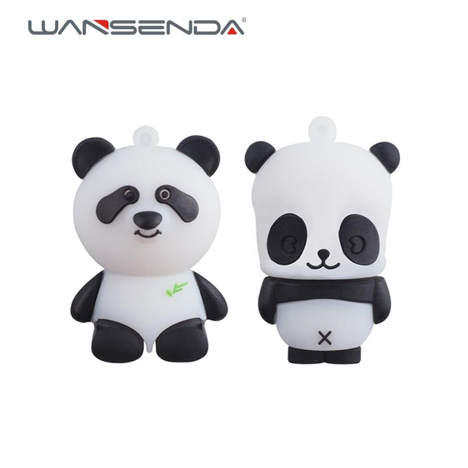 Cartoon Panda Usb Flash Drive Pen Drive 4gb 8gb 16gb 32gb 64gb Pendrives U Disk Flash Card hot sale Memory stick