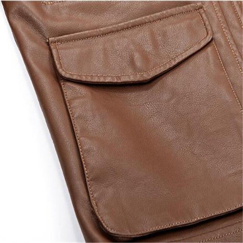 En brown Vestes Outwear M Black Pu Hommes Marque Solide Veste Moto Militaire Nouvelle xxxl Manteau Cuir Frais Tang qfwBUU