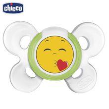 Пустышка Chicco Physio Comfort Smile, 1 шт., 6-12 мес., силикон