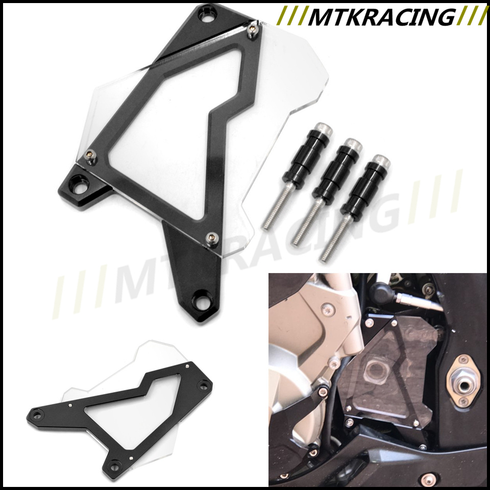 CNC Aluminum Front Sprocket Cover Chain Guard Cover For BMW S1000R 2014 2015 S1000RR 10-16 S1000XR 15-16 HP4 12-14 mgoodoo cnc aluminum motorcycle left engine guard chain protector front sprocket cover panel for yamaha r3 r25 2014 2015 2016