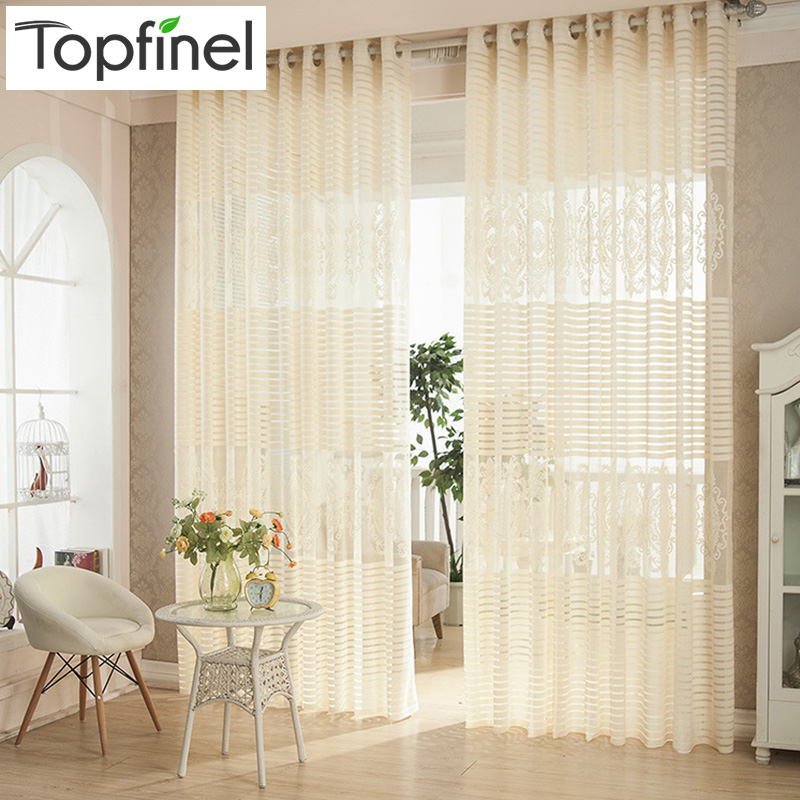 3color Fashion High Quality Modern Window Screening Curtains For Living Room Sheer Tulle voile Curtain Panel Freeshipping