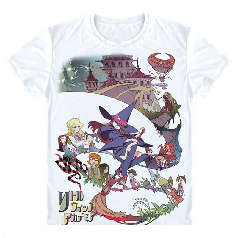 witch academia shirt anime tees clothing costume merch clothes cosplay japan shirts tee