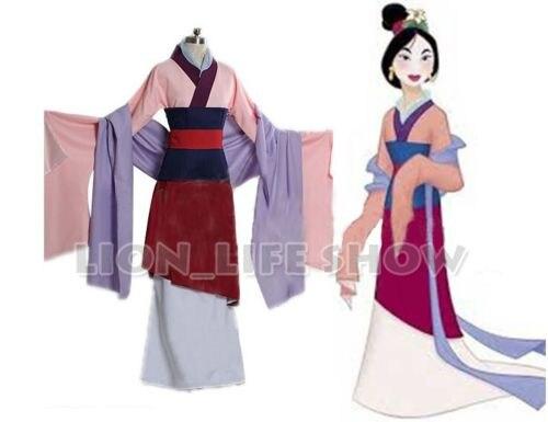 Chinese Tang Ruqun Hanfu Women Mulan Dress Full Set Halloween Party Cosplay Costume Outfit Custom Made Any size