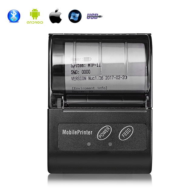 Special Offers 58mm Wireless Bluetooth Pocket Printer for