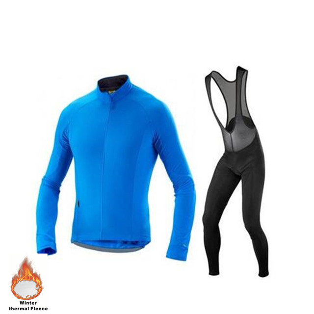 Winter thermal fleece pro team men Ropa Ciclismo Bicycle maillot cycling  jersey Simple style bike clothing MTB 3D GEL pants 5c94997cf