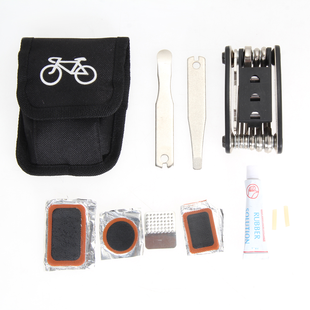 HOT SELLING BICYCLE CYCLING PUNCTURE BIKE MULTI FUNCTION TOOL REPAIR KIT SET WITH POUCH Bicycle Repair Tools