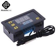 W3230 ac 110v 220v digital termostato controlador de temperatura regulador termômetro medidor temperatura sensor controle refrigeração calor
