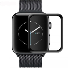 CRESTED screen Protector For Apple Watch 4 band 44mm 40mm 42mm 38mm 3D curved surface 9H Tempered Glass iwatch film series 3/2/1 3d curved soft edge tempered glass screen protective film for apple watch band series 1 2 3 38mm 42mm screen protector cover