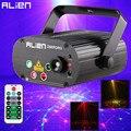 ALIEN 96 узоров двойной красный зеленый лазерный проектор синие светодиодные лампы для световых сценических эффектов DJ диско клуб вечерние св...