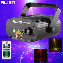 ALIEN 96 דפוסים כפול אדום ירוק לייזר מקרן כחול LED שלב תאורת אפקט DJ דיסקו מועדון מסיבת חתונה אור עם מרחוק
