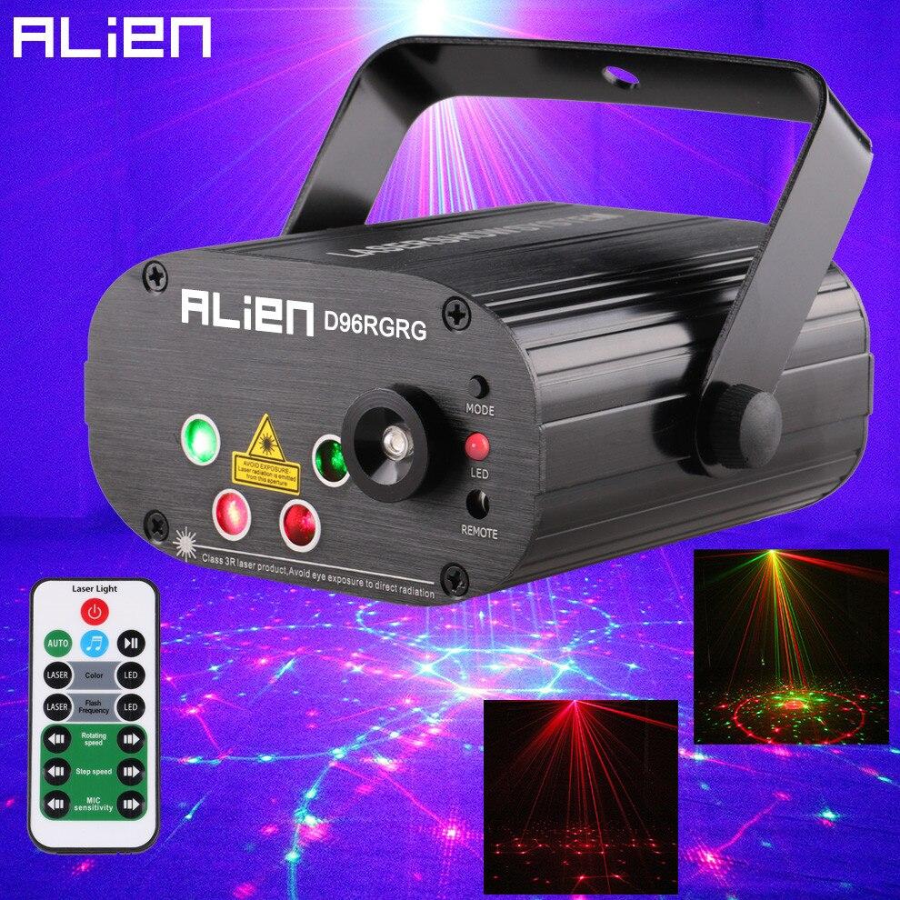 Mini Proiettore Effetto Luci Laser Per Disco Discoteca Dj.Alien 96 Modelli Dual Rosso Proiettore Laser Verde Blu Led Di