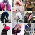 2016 Women's Army Green Large Color Raccoon Fur Hooded Coat Parkas Outwear Long Detachable Fox Fur Lining Winter Jacket Brand