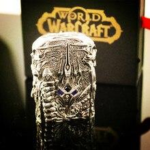 Hand-made Metall Silber E-cigatettes Kerosinfeuerzeug World Of Warcraft WOW The Lich King Arthas Menethil Leichter Limited Edition