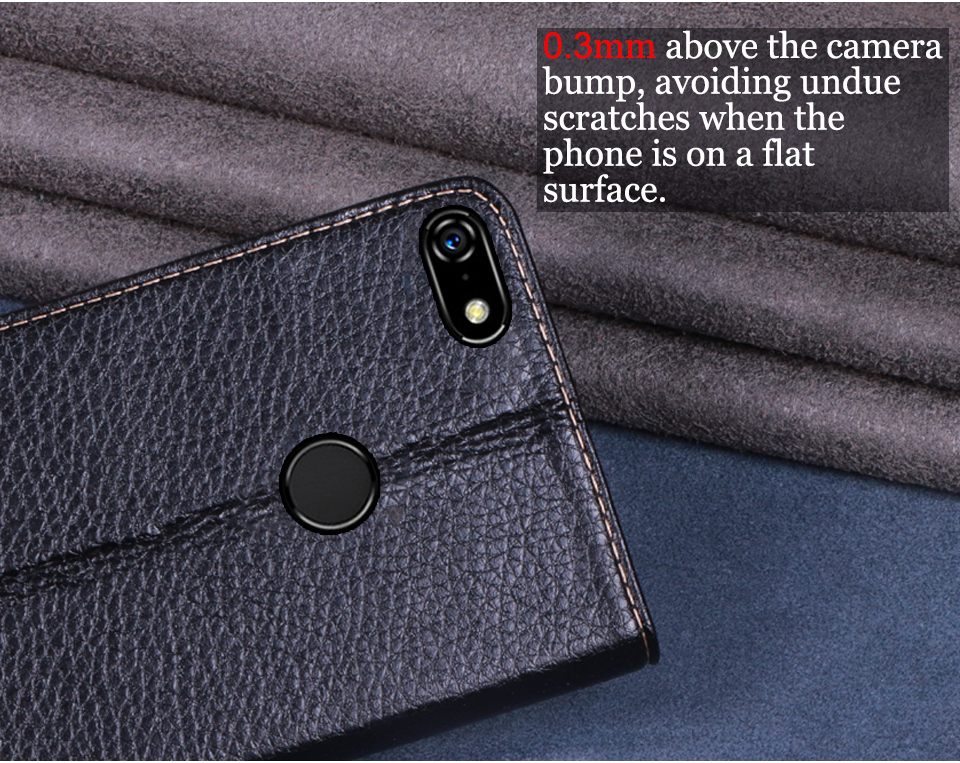 RYKKZ Luxury Leather Flip Cover For Lenovo A5 Mobile Stand Case For Lenovo A5 L18011 K5 K5 Play Leather Phone Case Cover in Flip Cases from Cellphones Telecommunications