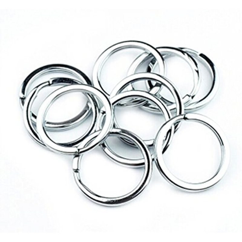 50Pcs/Pack Silver Metal Key Holder Split Rings Key Ring Key Chain Round Circle Keychain Accessories 1.5*25mm open circle skinny ring pack 5pcs