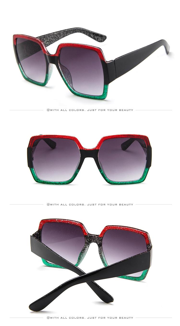 19 Oversized Sunglasses for Women Brand Designer Retro Sun glasses Red Green Shades Eyewear sunglasses woman 6