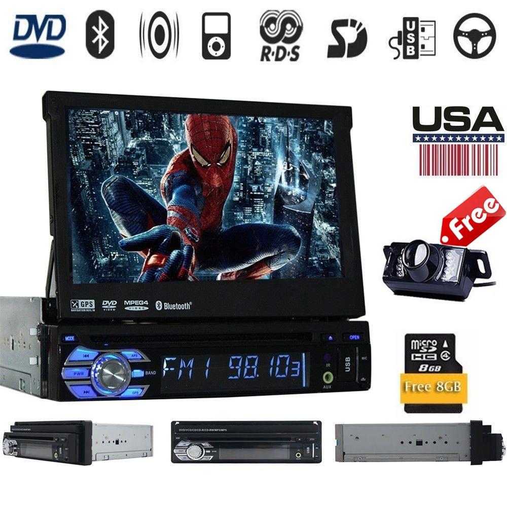 1Din Voiture Cassette enregistreur Audioradio Lecteur DVD GPS de Navigation Multimédia de voiture lecteur Stéréo + Bluetooth + DVD Automobile + SD + USB + GPS