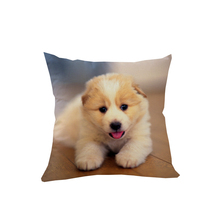 4Pcs Lovely Dog Decorative Cushion Cover Animal Printed Pillowcase Sofa Car Throw Pillow Case 45*45cm