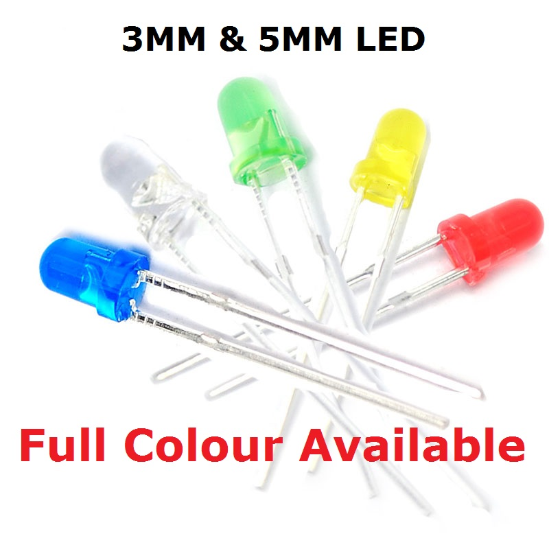 500pcs 5mm Water Clear 2Pin Red Blue Light Double Alternate Flashing LED Diodes