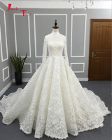 Jark Tozr 2017 New Arrive High Neck Long Sleeve Bridal Gowns Mariage Aliexpress Login Appliques Lace