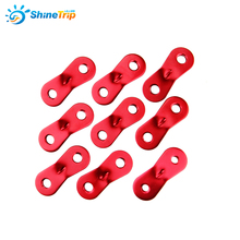 Tent Accessories (100 pcs) 2 Holes Aluminum Alloy Camping Wind stopper Rope Adjuster Buckle Tentorial Wigwam