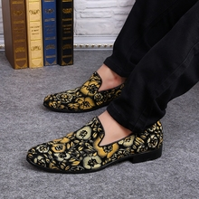 Top quality vintage style mixed color men's comfortable loafers floral printing genuine leather men shoes flats large size EU46 цены онлайн