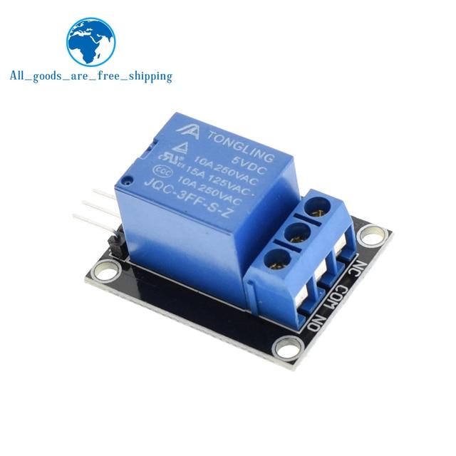 TZT 10 piezas KY-019 5 V una 1 Channel Relay Module Board Shield para PIC AVR DSP ARM para arduino relé