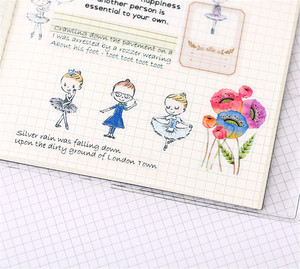 Image 5 - 40 יחידות קריקטורה בלט תלמיד נייר איטום מדבקות מלאכות ספר דקורטיבי מדבקת DIY מכתבים