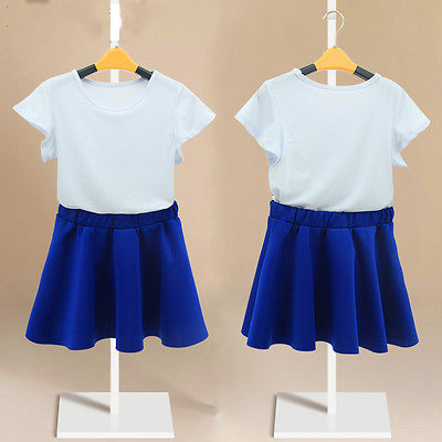 891b7bc8a7264 Hot Kids Baby Girls 2 Piece White shirt Blue Skirt Set Summer Dress Outfits  CA-in Clothing Sets from Mother & Kids on Aliexpress.com | Alibaba Group