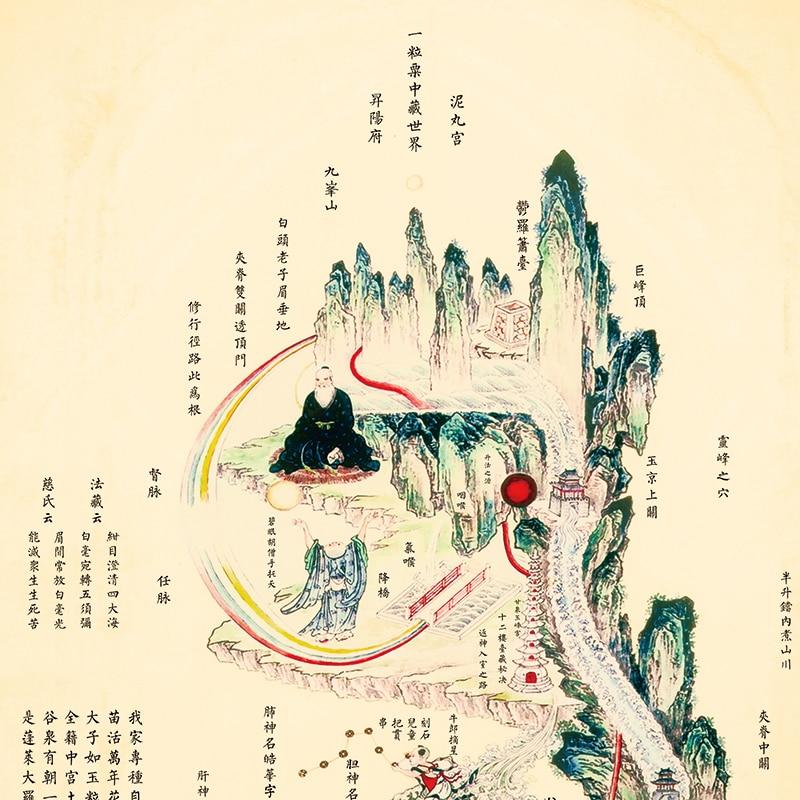 Intérieure Classique Photos Coloré Médecine Chinoise Culture Mur Photos Taoïste Soins de Santé Caractères et Peintures-in Massage et relaxation from Beauté & Santé    2