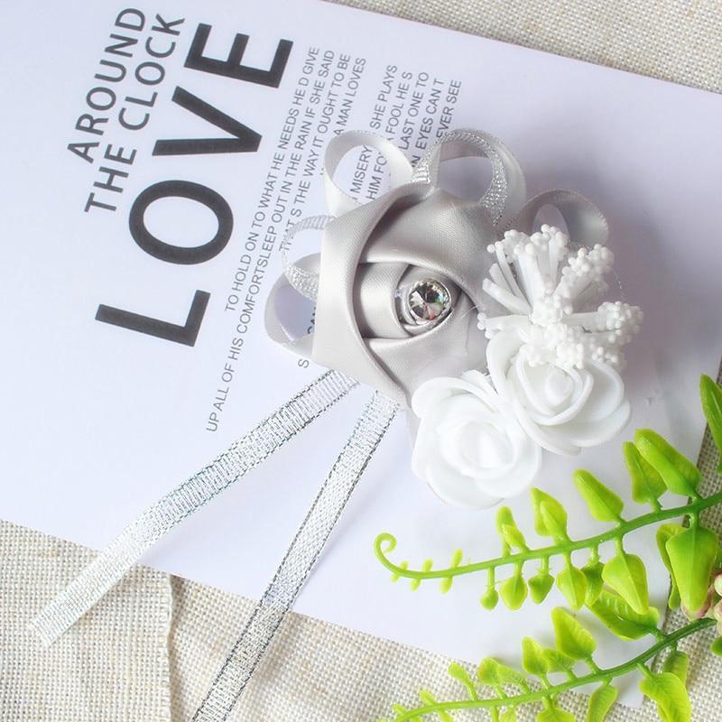 wrist corsage bracelet bridal wedding flowers Bridesmaid  (113)