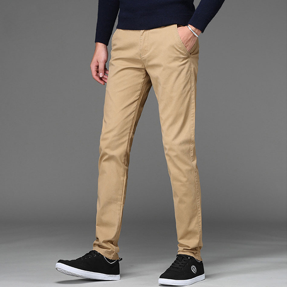 Brand New Mens Casual Pant High Stretch Elastic Fabric Skinny Slim Cutting Trouser Pocket Badge Plus Size 46
