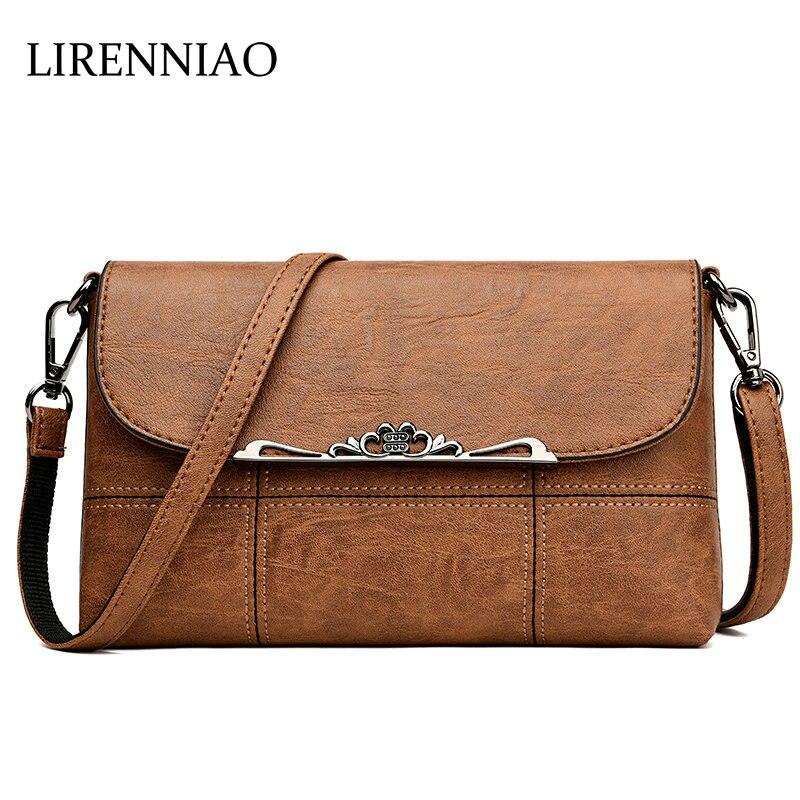 5f8bd4755987 LIRENNIAO Designer Genuine Leather Ladies Handbag Vintage Hasp Women s  Crossbody Bags Female Clutch Women Shoulder Bag